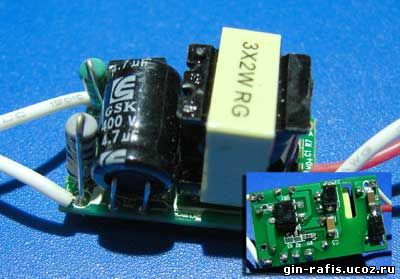 Драйвера для светодиодов от 220в